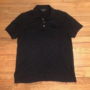 John Varvatos black s/s polo shirt - Medium